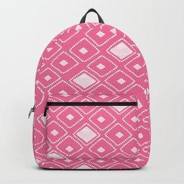 Geometric Hot Pink Backpack