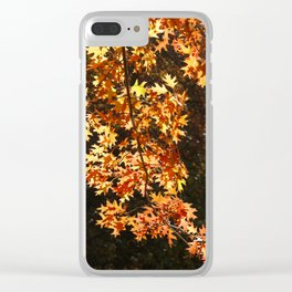Autumn Leaves Display Clear iPhone Case