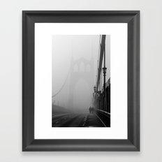 Gothic Bridge Framed Art Print
