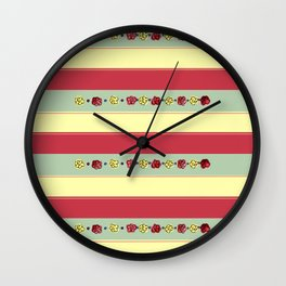 A Rosey Outlook Wall Clock