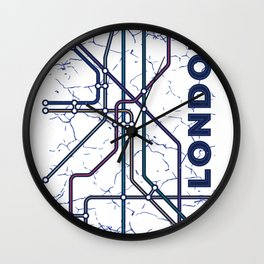 London Underground Map Subway Train Map Wall Clock