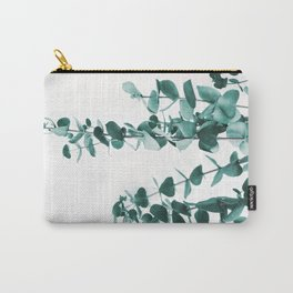 Turquoise Eucalyptus Leaves Carry-All Pouch