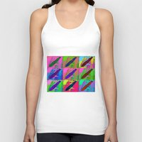 led zeppelin Tank Tops featuring Zeppelin Warhol by Sara PixelPixie