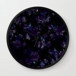 Art splash brush strokes paint abstract print Wall Clock