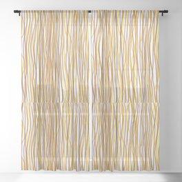 Discombobulated Stripes 2 Sheer Curtain
