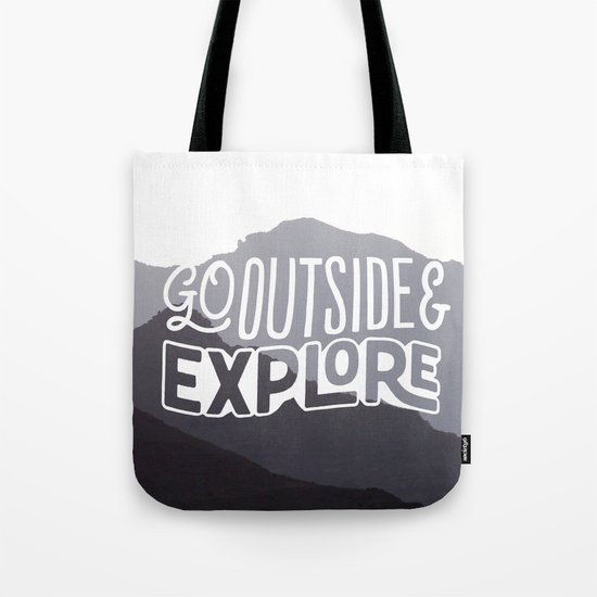 Go outside & explore (valley) Tote Bag