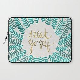 Treat Yo Self – Gold & Turquoise Laptop Sleeve