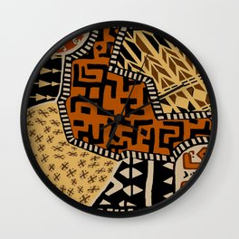 African Tribal Earth Spirits Wall Clock