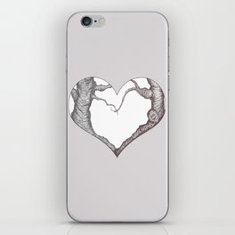 Two Trees in Love Sweetheart Valentine Illustration iPhone Skin