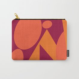Tangerine Magenta Gold Geometric Carry-All Pouch