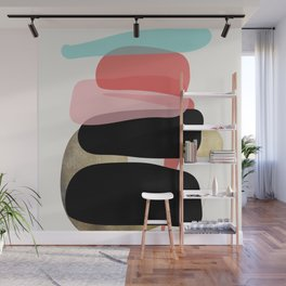 Modern minimal forms 1 Wall Mural