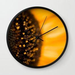 Inside of a Sunflower Wall Clock