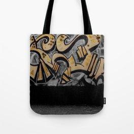 The Cover Up Orange Graffiti Tote Bag