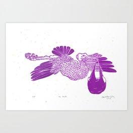 The Stork in pink Art Print