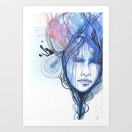 A Quiet Darkness Art Print