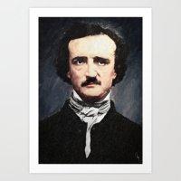edgar allan poe Art Prints featuring Edgar Allan Poe by Taylan Soyturk