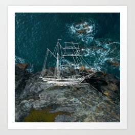Shower Ship Art Print