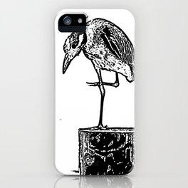B&W Heron iPhone Case