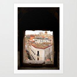 Cagliari city. Sardinia, Italy Art Print