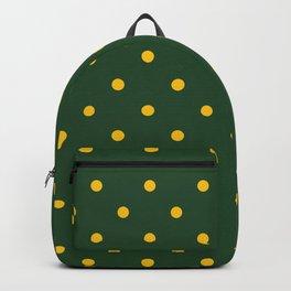Polka Dots Pattern: Green & Yellow Backpack