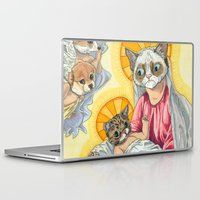 christ Laptop & iPad Skins featuring Internet Christ  by Quigley Down Under