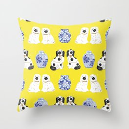 Staffordshire Dogs + Ginger Jars No. 6 Throw Pillow