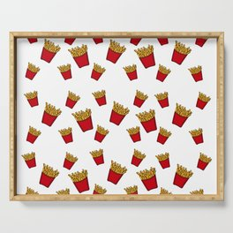 French Fries Pattern - Shapes - Graphic - Symbols - Food Serving Tray