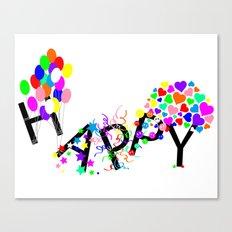 Just Happy Canvas Print