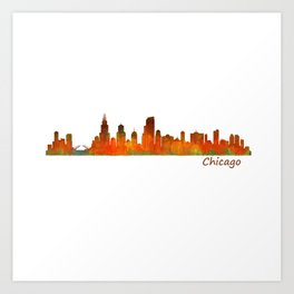 Chicago City Skyline Hq v1 Art Print