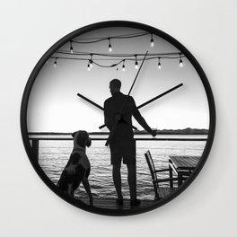 Mans Best Friend Wall Clock