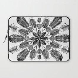 Trilobite and Fossil Mandala, Collage using Ernst Haeckel illustrations Laptop Sleeve