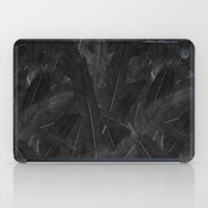 Feathered (Black). iPad Case