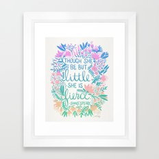 Little & Fierce – Lavender Mint Ombré Framed Art Print