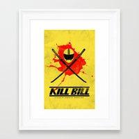 kill bill Framed Art Prints featuring Kill Bill by WeEatDesign