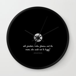 Freedom, Books, Flowers, & The Moon Wall Clock