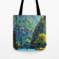 peru Tote Bags featuring Ceti Peru by Bunny Clarke