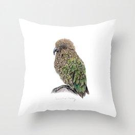 New Zealand Kea Throw Pillow