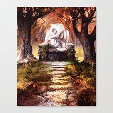 The Autumn Throne Canvas Print