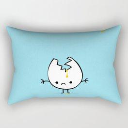 Mr Egg is now sad Rectangular Pillow