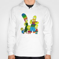 simpsons Hoodies featuring The Simpsons by Luna Portnoi