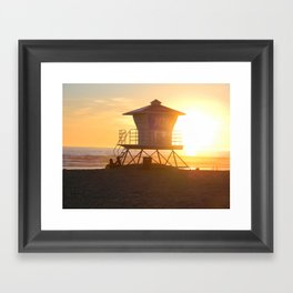 LIFEGUARD TOWER  Framed Art Print