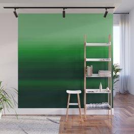 Emerald Green Stripe Design Wall Mural