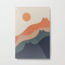Cat Landscape 90 Metal Print