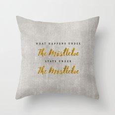 What Happens under The Mistletoe Throw Pillow