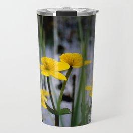 Marigolds on swamp Travel Mug