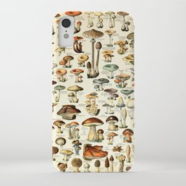 Vintage Mushroom & Fungi Chart by Adolphe Millot iPhone Case