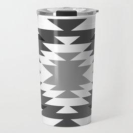 Aztec - black and white Travel Mug