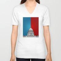 politics V-neck T-shirts featuring American Politics by politics