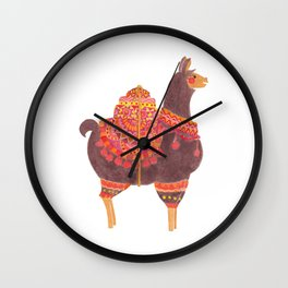 The Lovely Llama Wall Clock