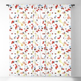Polyhedral Dice- Pop Modern Blackout Curtain